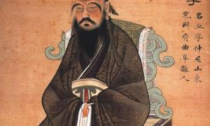 This painting of around 1770 AD shows Confucius but is probably of finer quality than the one recently found in the tomb of the Marquis of Haihun.