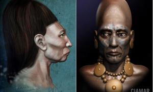 Artistic representations of the Paracas people. Credit: Marcia K. Moore