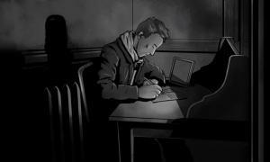 Paul Dienach writing - Illustration