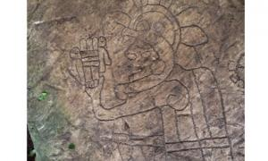 Petroglyphs at Veracruz, Mexico