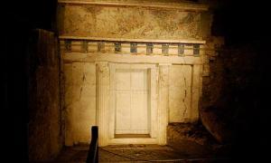 Facade of Philip II tomb Vergina Greece