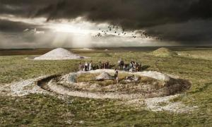 Prehistoric burial mound.     Source: Historic England