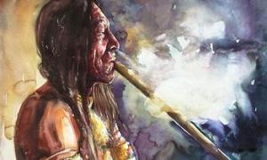 Prehistoric people using hallucinogens in ritual