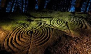 Prehistoric rock art sites in Northumberland