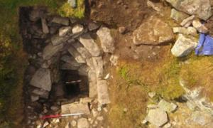 Prehistoric well and steps recently uncovered at Mither Tap Hillfort, Scotland Source: Northern Picts /University of Aberdeen