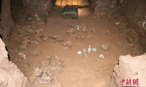 The inside of the princess's large tomb, which contained 166 funerary items