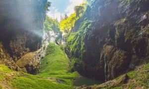 The Macocha Gorge - Sinkhole in the Moravian Karst Punkva caves system     Source: Roman/Adobe Stock