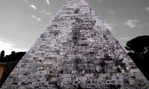 The Pyramid of Cestius, Rome