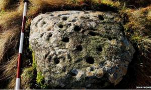 Rare ancient rock art in Scotland
