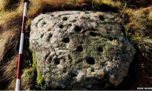 Rare ancient rock art in Scotland