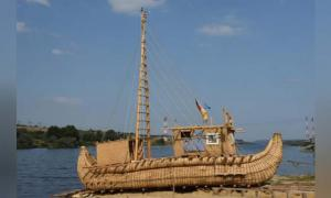 The Abora IV, based on the ancient Egyptian reed boat. Source: Mission ABORA