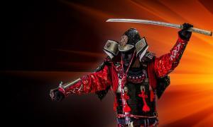 Samurai with a sword