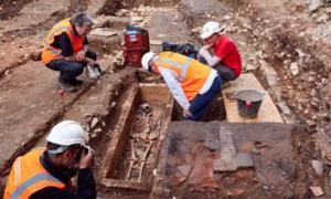 The discovery of the sarcophagus was made during redevelopment work. Source: Département du Lot / Facebook.