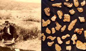 Panning for gold in Kildonan. (slains-castle) Alluvial gold from Kildonan Burn, Helmsdale, Suth-erland.