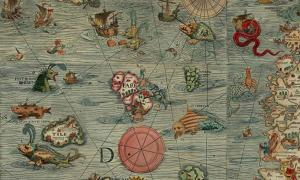 Section of the Carta Marina, 1527-39