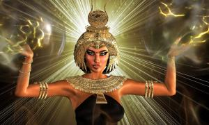 Ancient Egyptian Goddess. Credit: tk0920 / Adobe Stock