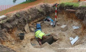 Sheepskin in Burial Cist - UK