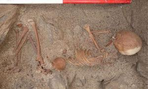 A woman and her partner walking on Sanday Island in the Orkneys came across the skeleton of a child who died about 4,000 years ago.