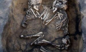 Skeletons embrace Siberia
