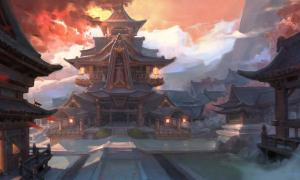 Concept art of Asian palace - South Korea