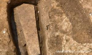 Stone Coffin found on Grey Friars