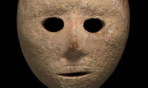 9000 year-old mask that was recovered.