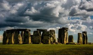 The famous Stonehenge monument in Wiltshire, England.