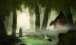This Germanic image links the stork with death and the underworld. Source: Hanna Gottschalk / Adobe Stock