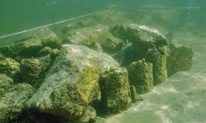 Archaeologists have discovered a range of mysterious man-made stones submerged beneath the surface of Lake Constance.   Source: Thurgau Archaeology