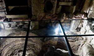 One of the many subterranean chambers discovered by Luciano Faggiano during his excavations under Lecce, Italy.
