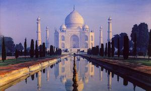 Moonlight Garden Taj Mahal