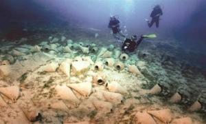 Sunken ships discovered in the Aegean
