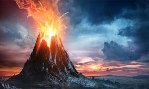 Representation of a volcanic super eruption. Source: Romolo Tavani /Adobe Stock