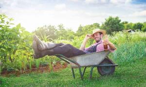 A  Farmer with a drink.