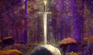 Sword in a Stone and Fairy Tale forest