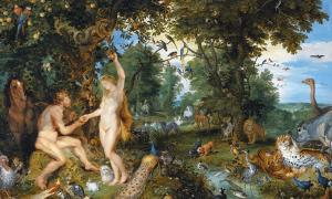 The Garden of Eden with the Fall of Man by Jan Brueghel the Elder and Pieter Paul Rubens