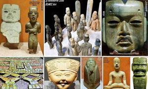 Examples of Olmec art.