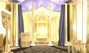 Picture of the Inner Court of Tabernacle of Moses with the Ark of Covenant (unknown illustrator)
