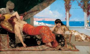 Painting by Jean-Joseph Benjamin-Constant, Orientalism genre, representation of The Book of Exposition. Source: Jeangagnon / Public Domain.