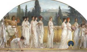 Thesmophoria by Francis Davis Millet, 1894-1897 (Public Domain)