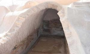 Vaulted royal tomb of Haft Teppah (Haft Tepe), the Bronze Age Elamite city where archaeologist have uncovered a mass grave filled with unfortunate victims.