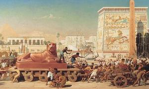 Trade in Ancient Egypt portrayed in 'Israel in Egypt' by Edward Poynter  Source: Edward Poynter / Public Domain