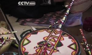 A traditional imzad instrument, made by local craftswomen and played only by women.