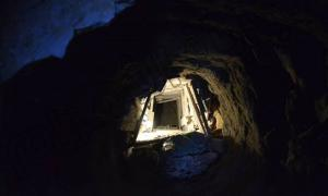 The newly-discovered underground causeway leading to the Great Pyramid of Giza.