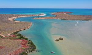 Burrup Peninsula, Western Australia, where the recently discovered ancient Aboriginal underwater sites are located               Source: DHSC / PLOS ONE