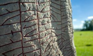 Close up of the Viking runestone ('the Rök Stone') from the 9th century, features the longest known runic inscription and is considered the first piece of Swedish literature.        Source: rolf_52 / Adobe stock