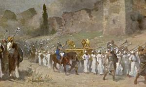 Bible Old Testament: Joshua and the walls of Jericho.            Source: Archivist / Adobe Stock