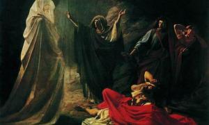 Witch of Endor by Nikolai Ge, 1857.