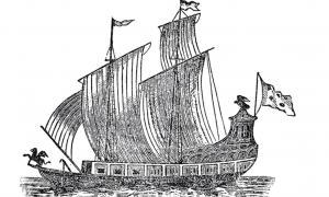 Father Louis Hennepin's woodcut of the Griffon