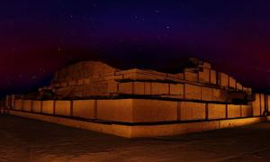 The ziggurat Choga Zanbil in Ira
